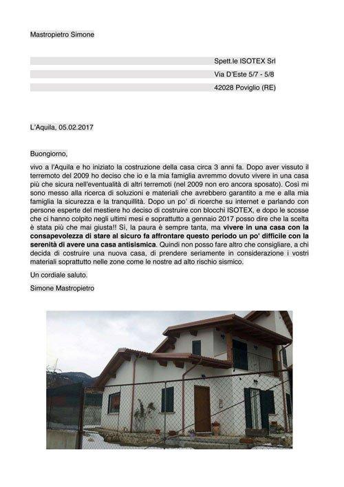 Ich habe mich für den Bau mit ISOTEX-Blöcken entschieden und nach den Erdbeben in den letzten Monaten und vor allem im Januar 2017 kann ich sagen, das die Entscheidung mehr als richtig war!